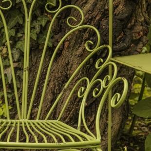 Banca Romantic Garden Green detaliu