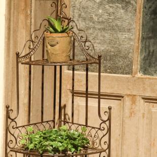 Etajera Romantic Garden Brown detaliu